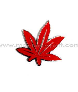 آرم برگ قرمز رنگ