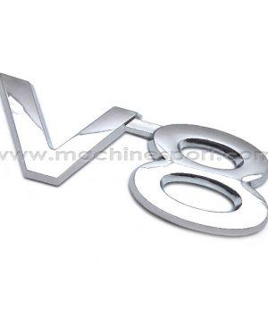 آرم V8 برای موتور خودروهای 8 سیلندر سایز 9 سانت