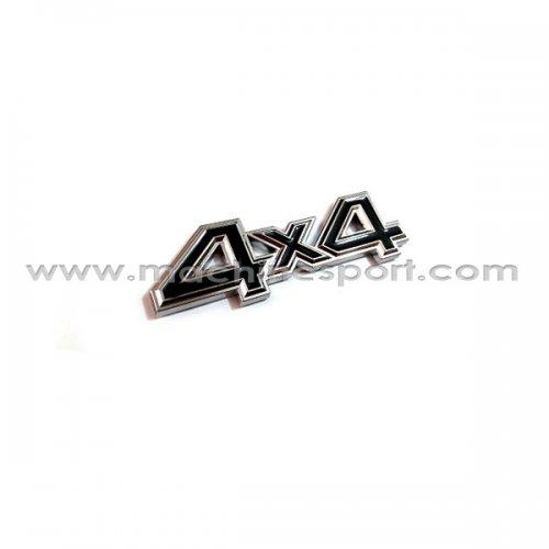 آرم 4X4 برای خودروهای انتقال قدرت موتور به چهار چرخ سایز 11 سانت مشکی