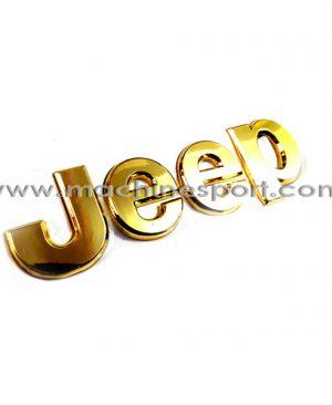 آرم فابریک برای جیپ طلایی رنگ