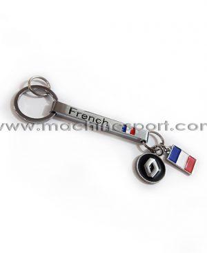 جاسوئیچی رنولت آویز دار با پرچم فرانسه