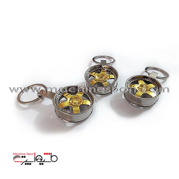 جاسوئیچی رینگ ماشین طلایی نقره ای