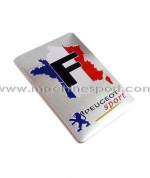 آرم برای پژو اسپرت با طراحی پرچم فرانسه PEUGEOT sport