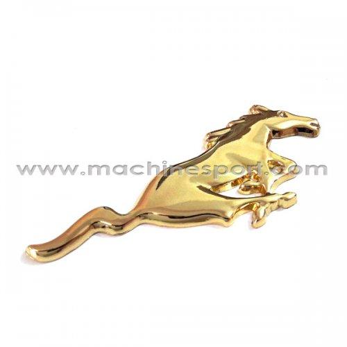 آرم فورد موستانگ Mustang طلایی رنگ 11 سانتی