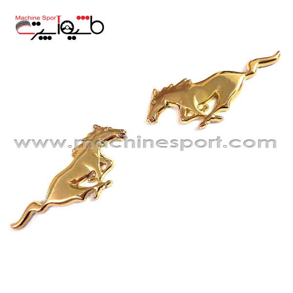آرم فورد موستانگ Mustang طلایی رنگ 7سانتی