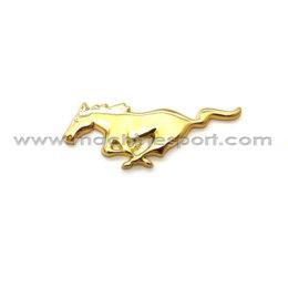 آرم فورد موستانگ Mustang طلایی رنگ 7.6 سانتی
