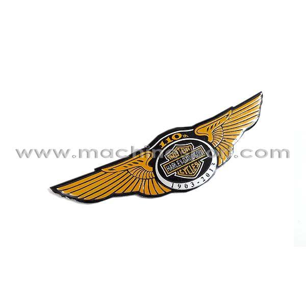 آرم موتور هارلی دیویدسون زرد رنگ 2013-1903