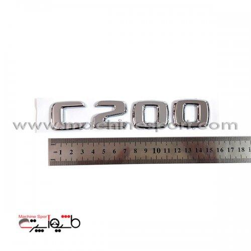 آرم نوشته پشت مدل مرسدس بنز C200