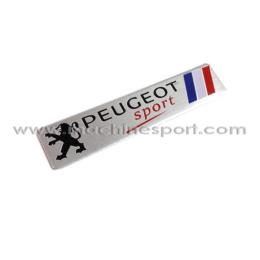 آرم و لوگو پژو اسپرت با طرح پرچم فرانسه PEUGEOT sport