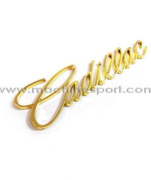 آرم نوشته کادیلاک طلایی رنگ Cadillac