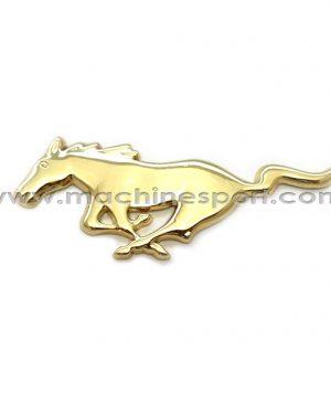 آرم فورد موستانگ Mustang طلایی رنگ 10.8 سانتی