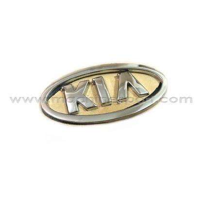 آرم کیا KIA فابریک وسط درب صندوق عقب ریو نقره ای