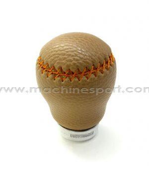 سر دنده اسپرت رنگ قهوه ای روشن با دوخت نارنجی