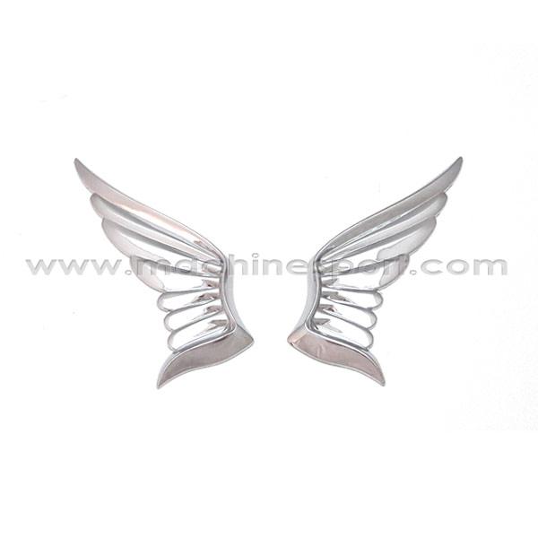 آرم طرح بال فرشته نقره ای رنگ