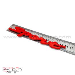 آرم اسپرت Sport سایز 14سانت قرمز رنگ