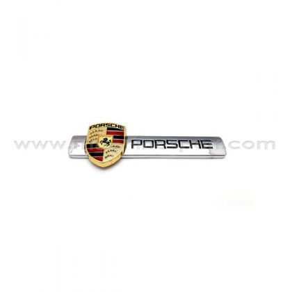 آرم نوشته فابریک پورشه Porsche مناسب درب صندوق عقب سایز 12 سانت