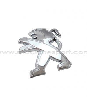 آرم پژو Peugeot نقره ای رنگ سایز 8 سانت