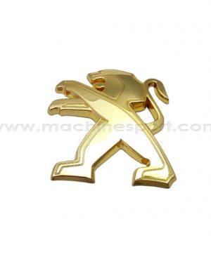 آرم پژو Peugeot طلایی رنگ سایز 8 سانت