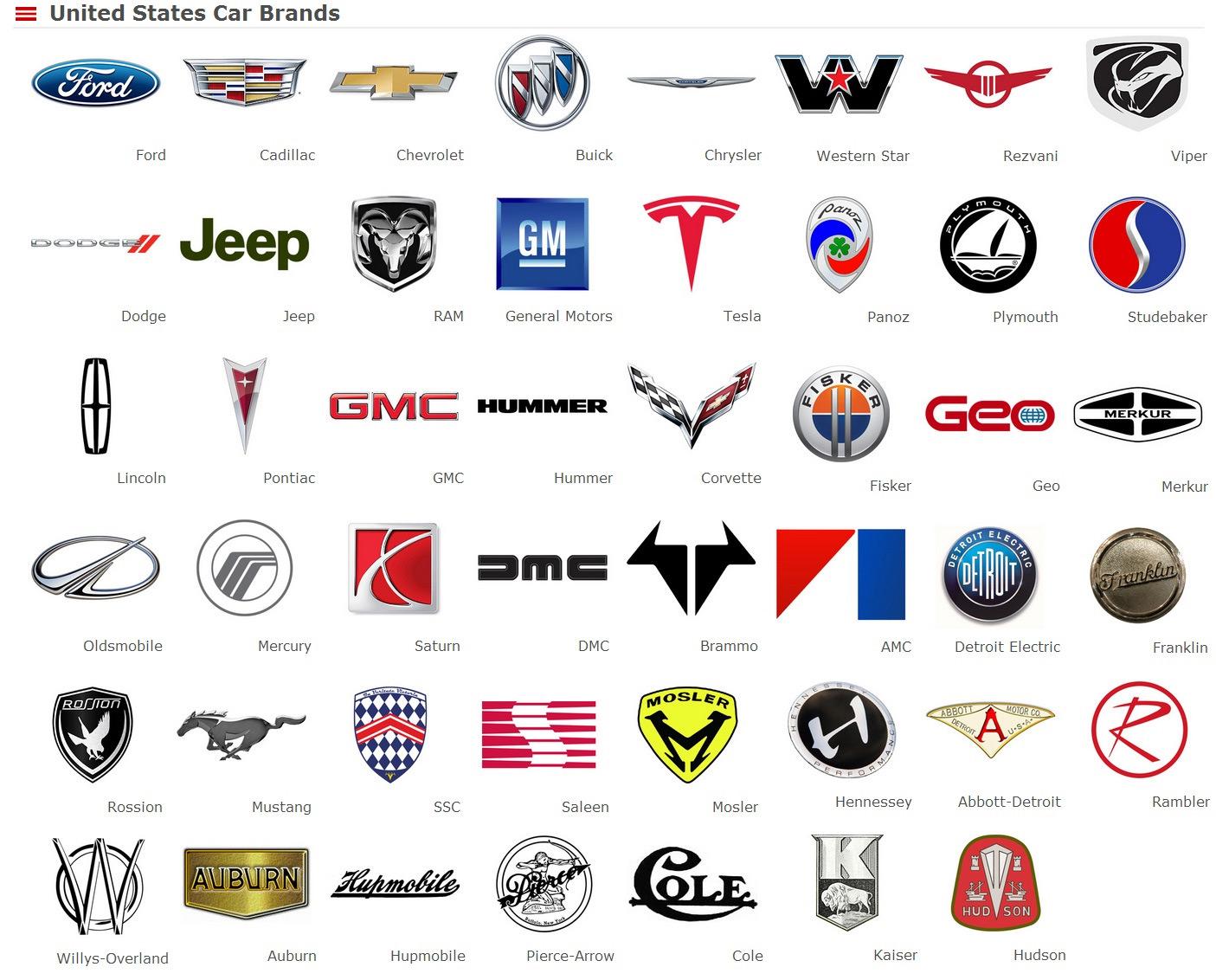 LOGO AMERICAN آرم های خودروهای آمریکا