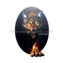 استیکر سه بعدی گرگ قرمز تیره wolf dark red