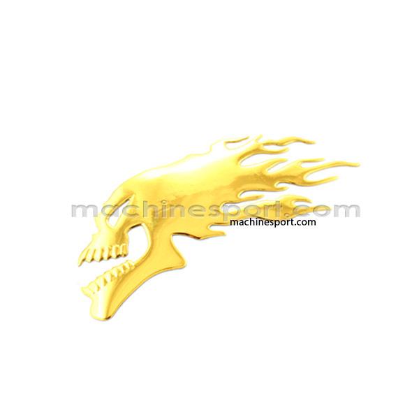 آرم جمجمه آتشین طلایی گلد