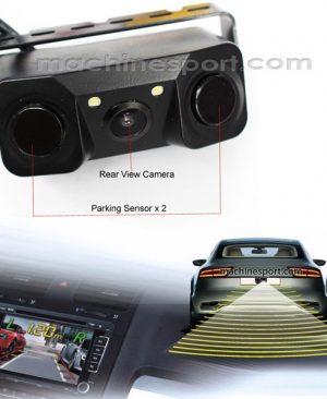 سنسور پارک و دوربین دنده عقب به همراه مانیتور آینه ای