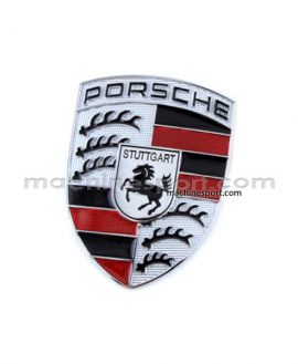 لوگو پورشه Porsche نقره ای