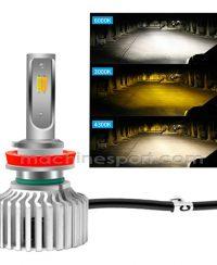 خرید لامپ خودرو | هدلایت ۳ رنگ یخی ، زرد و طلایی