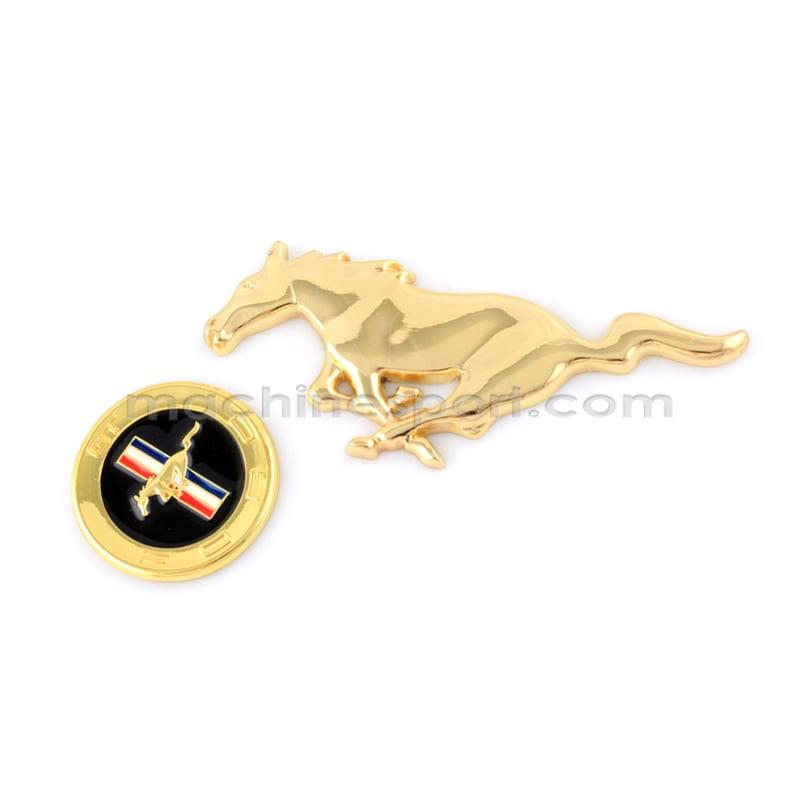 ست آرم اسب موستانگ طلایی 2 تکه