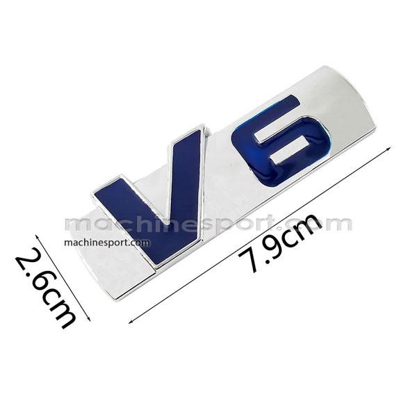 آرم v6 فلزی با آلیاژ روی و طراحی جدید