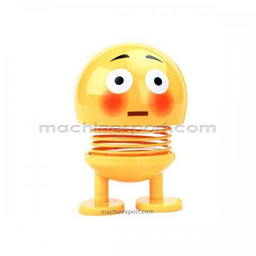 عروسک رو داشبوردی فنری ایموجی خجالتی