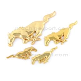 ست کامل آرم اسب فورد موستانگ طلایی