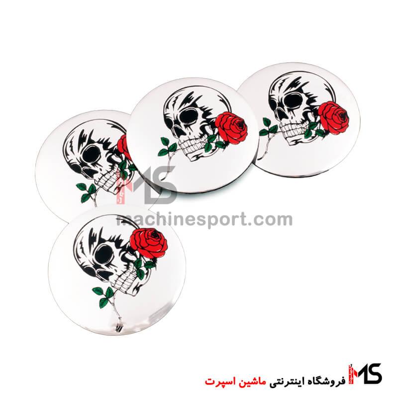 آرم کاپ رینگ طرح جمجمه و رز Skull & Rose