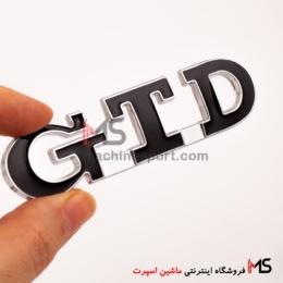 آرم نوشته جی تی دی GTD فولکس واگن